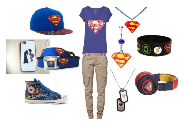 superman by amy-batman-cooper on Polyvore featuring polyvore fashion style CREAM Converse Hot Topic clothing