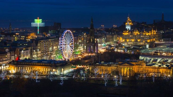 Wan't to get away this #Holiday season? Check out the Best Places to Spend #Christmas via Travel and Leisure. #Travel #Holiday #Edinburgh