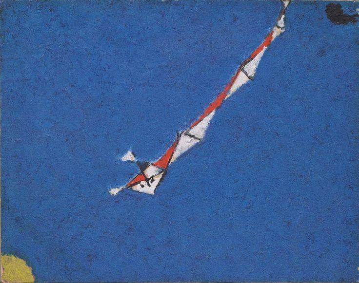 Osvaldo Licini, Angelo illuminato, 1957, olio su cartone, cm 20.5 x 26, Collezione Silvia Licini.