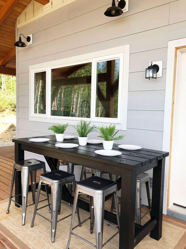 Outdoor Bar Table Diy, How To Make An Outdoor Bar Table