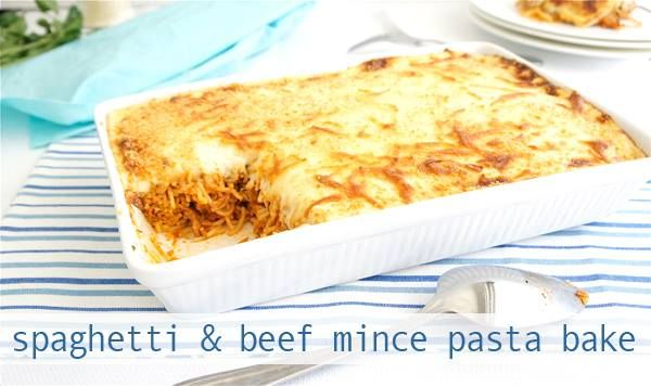 Another way to enjoy mince… Spaghetti Beef Mince Pasta Bake: really tasty!