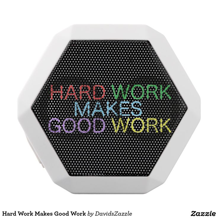 Hard Work Makes Good Work USB Speaker  Available on other products, type in the name of this design in the search bar on my Zazzle products page!  #motivational #quote #inspirational #saying #font #text #word #color #red #green #purple #yellow #blue #hard #work #good #makes #buy #sale #forsale #zazzle #phone #case #tablet #accessory #electronic #accessories #laptop #computer #sleeve #wallet #folio #folding #usb #speaker