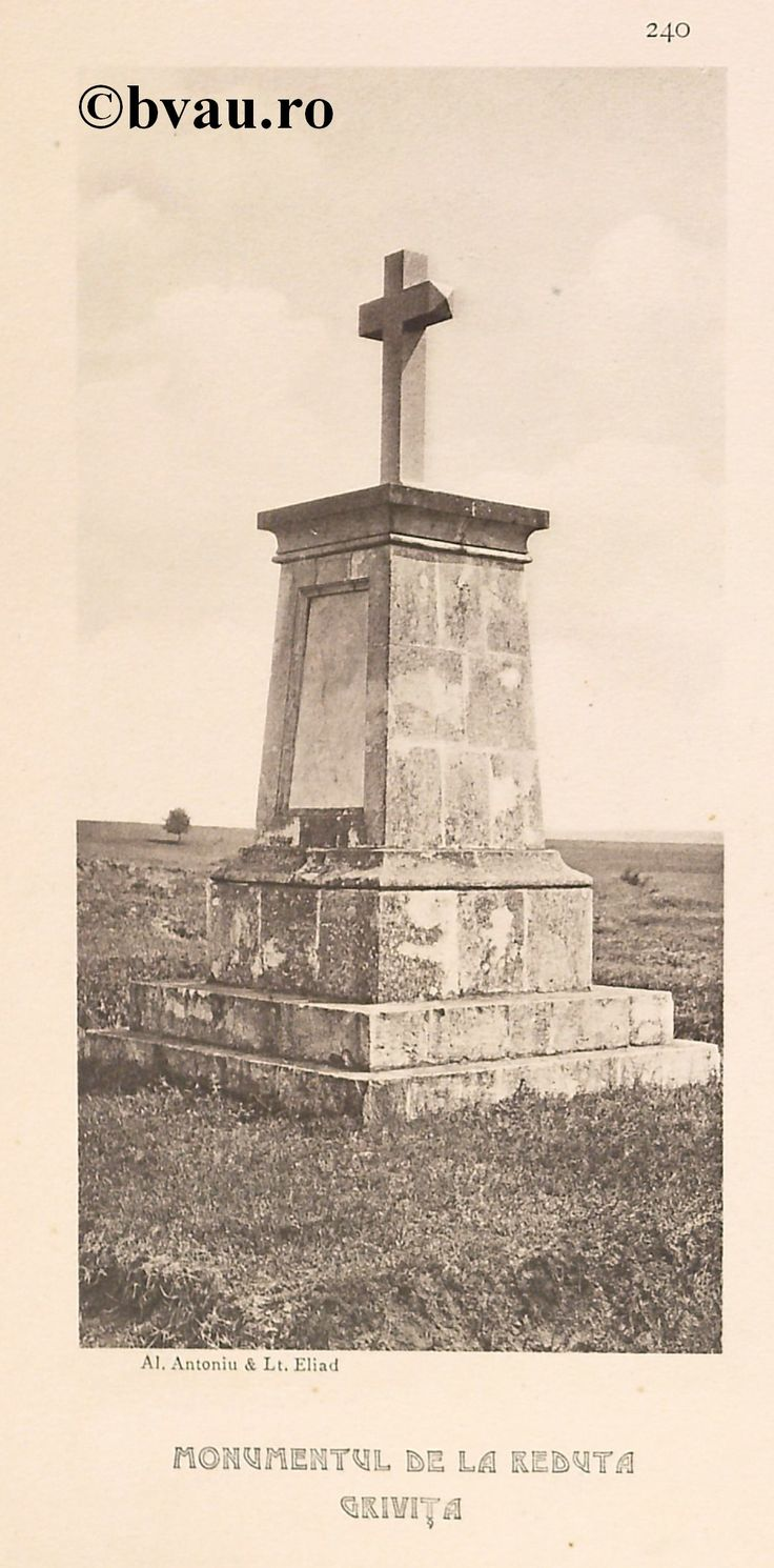 """Monumentul de la Reduta Griviţa, 1902, Romania. Ilustrație din colecțiile Bibliotecii Județene """"V.A. Urechia"""" Galați. http://stone.bvau.ro:8282/greenstone/cgi-bin/library.cgi?e=d-01000-00---off-0fotograf--00-1----0-10-0---0---0direct-10---4-------0-1l--11-en-50---20-about---00-3-1-00-0-0-11-1-0utfZz-8-00&a=d&c=fotograf&cl=CL1.43&d=J242_697980"""
