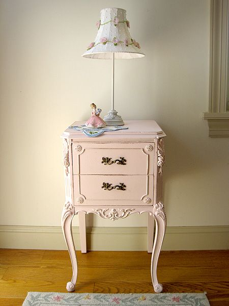 Perfectly Pink Nightstand, I do have a table like this which is antique.  This I might have the guts to sand and paint.