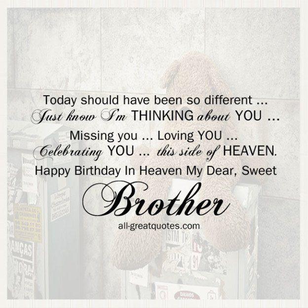 Big Birthday Quotes: 25+ Best Happy Birthday Brother Quotes On Pinterest
