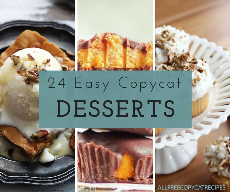 24 Crazy Easy Copycat Recipes for Desserts | Fall is upon us, and that means dessert recipes galore! Give these amazing copycat desserts a try!
