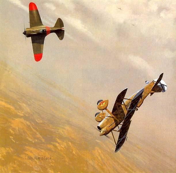 Chirri vs rata, aviation art More
