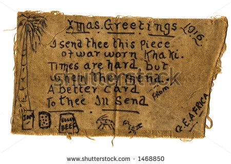 Christmas Card Handmade In The Trenches.