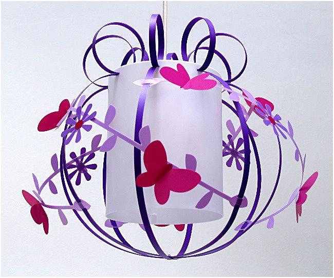 Suspension Papillon Violet Rose Et Parme Fabrique Casse