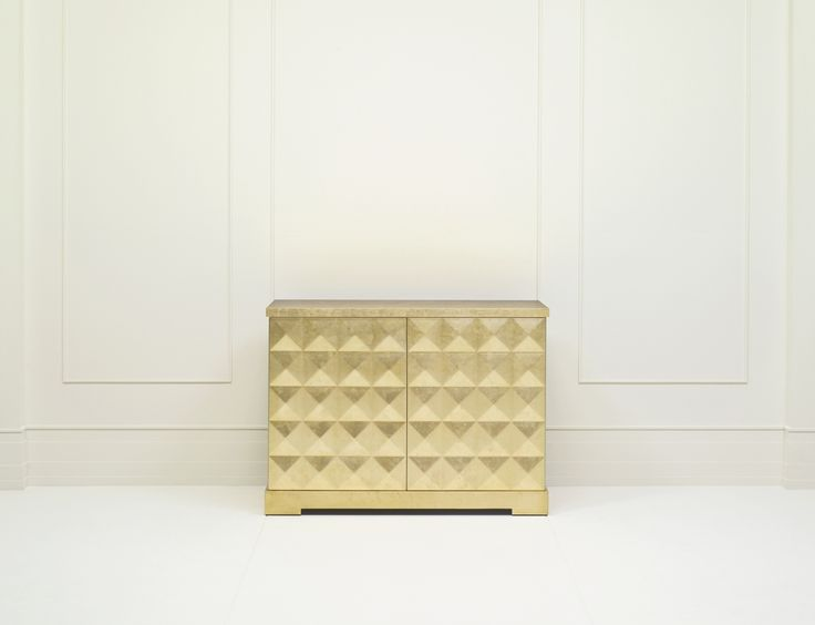 Barbara Barry Diamond Chest With Gold Leaf Finish And Chinese Red Interior  · Baker FurnitureFurniture ...
