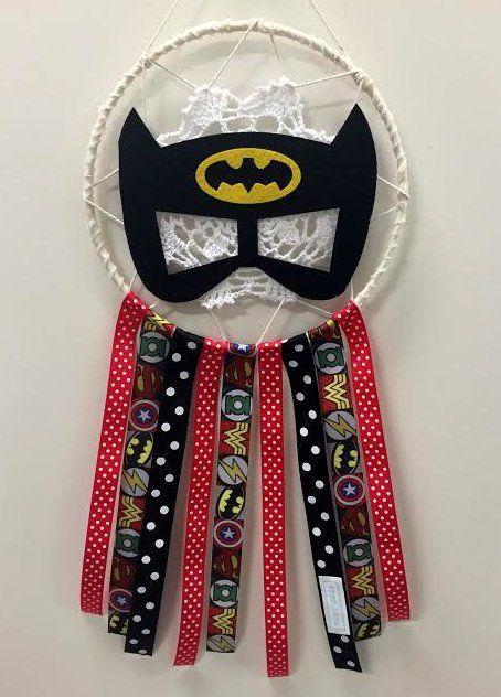 "Medium Dream Catcher - \""Hero Bat\"""