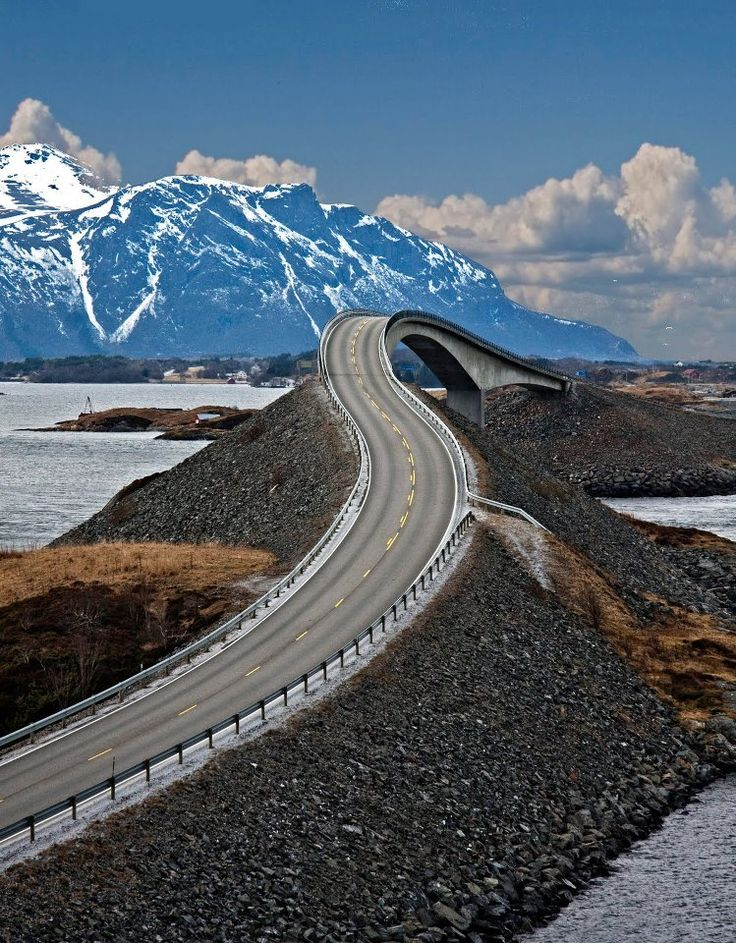 Sharp turns and wild nature have put the Atlantic Road at the top of the British newspaper The Guardian's list of the world's best road trips. Atlantic Ocean Road takes you over 8 brigdes from islet to islet out to the very point where the land ends and the ocean begins.