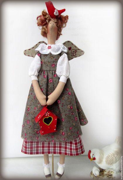 Куклы Тильды ручной работы. Ярмарка Мастеров - ручная работа. Купить Тильда Добрава. Handmade. Серый, кантри стиль, хлопок