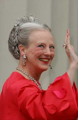 Queen Margrethe of Denmark wearing the Floral Aigrette. Can be worn quite a few different ways. Always stunning.