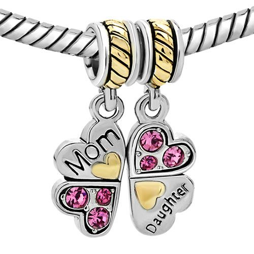 MOTHER DAUGHTER~mother knows best #beads #beaded #charmbracelets #charms #jewelry #jewellery #pandora #pandorabracelet #pandorabead #pandora charm #pandorastyle #bracelet #accessories