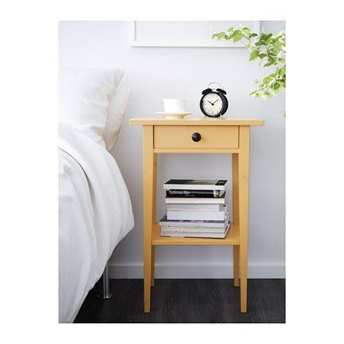 HEMNES Mesa de cabeceira - amarelo - IKEA
