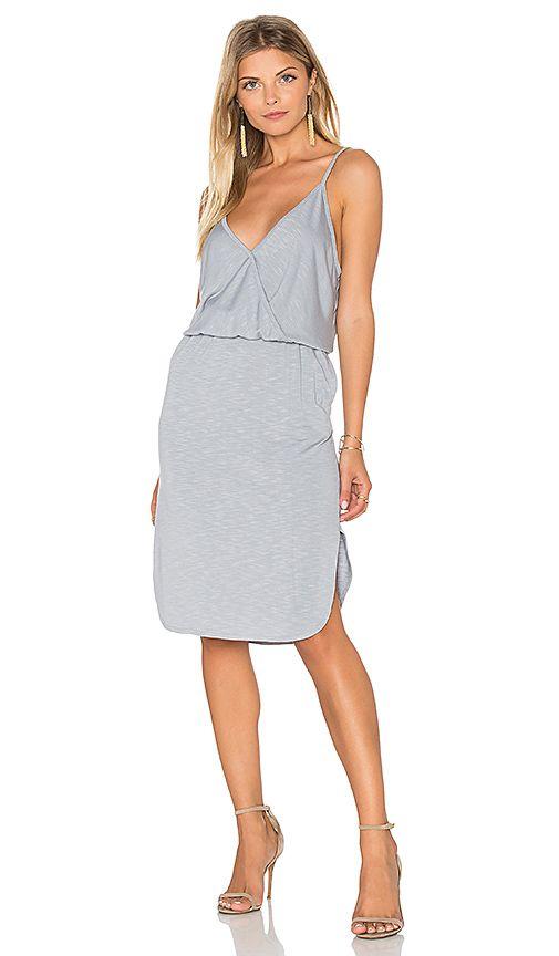 Lanston Surplice Cami Dress in Oyster // REVOLVE