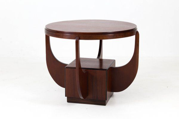 Dutch Art Deco Mahogany Coffee Table From Paul Bromberg 1920s