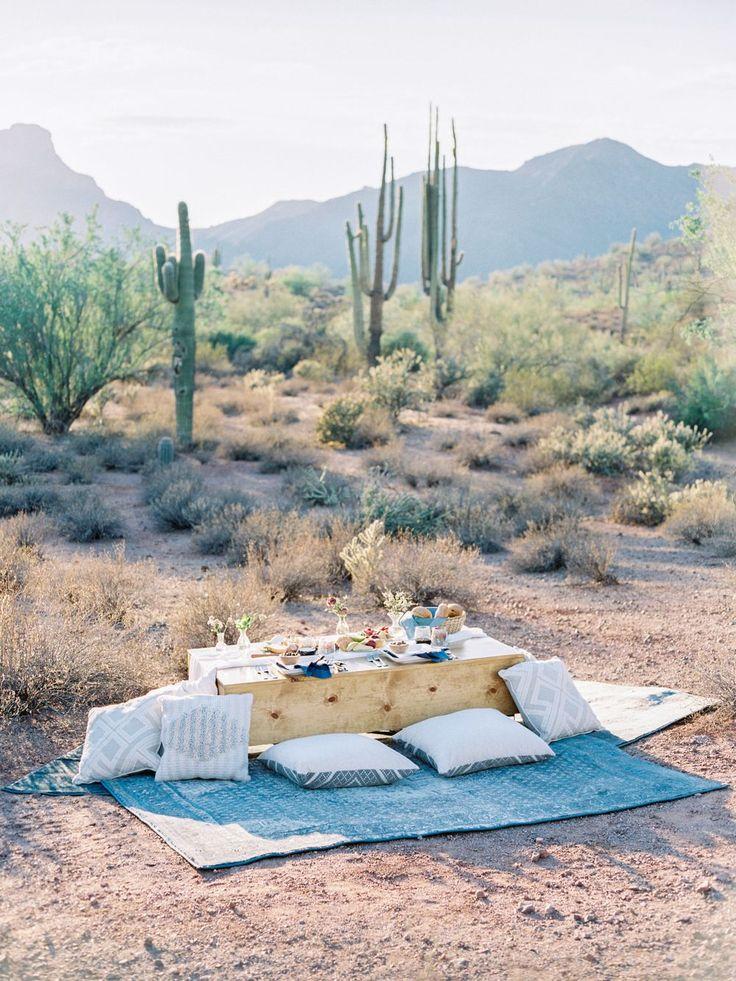 Romantic Desert Elopement during Sunset
