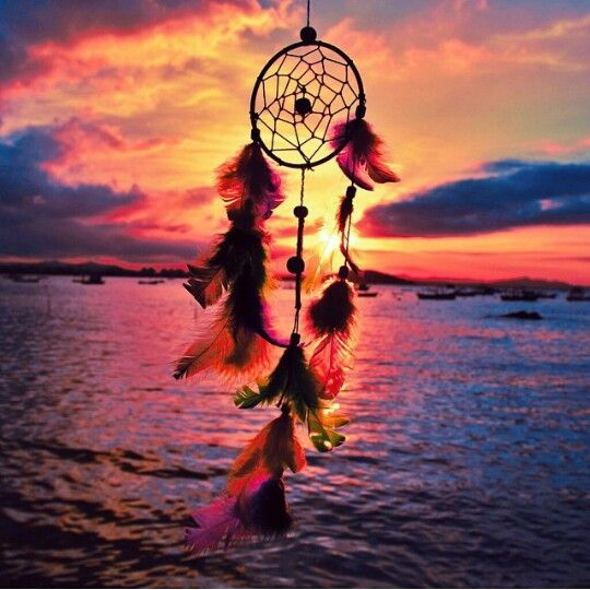 Love this dream catcher in the sunset  photograph