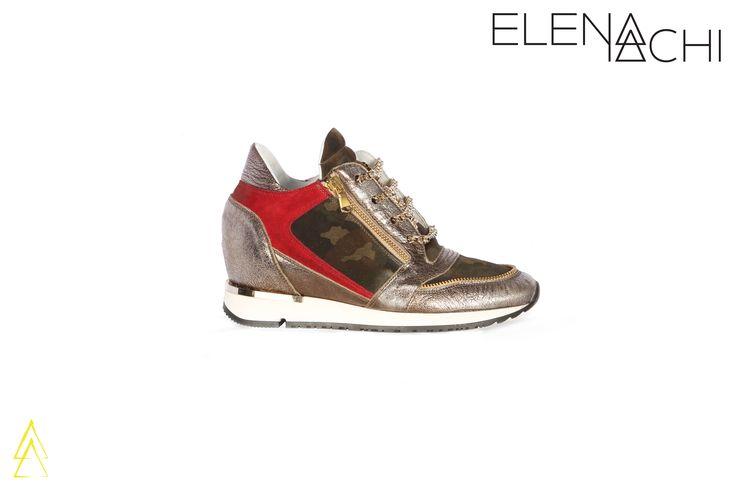www.elenaiachi.com  #madeinitaly #fashionshoes #ankle #sneakers #elenaiachi #shoes #fashion #handmade #style #gold #chain