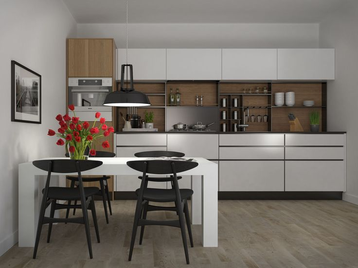 Keukenontwerp van een moderne rechte keuken van wanrooij 2014 rechte keukens pinterest - Optimaliseren van een kleine keuken ...