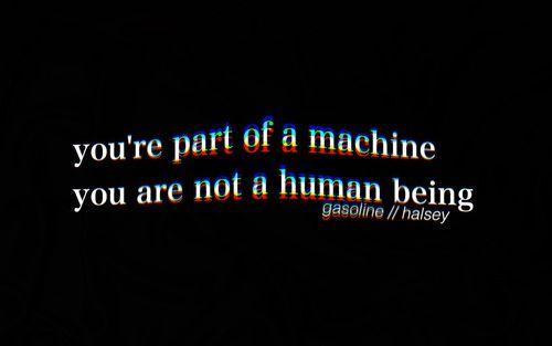 Ты - часть механизма. Ты - не человеческое существо