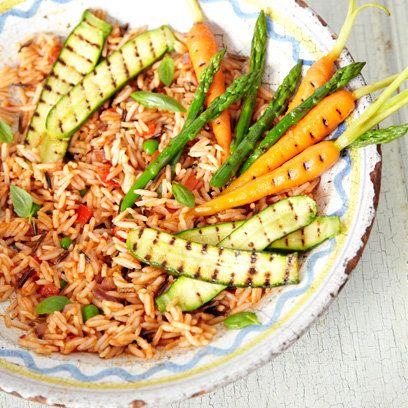 Harrisa and red pepper wild rice recipe. For the full recipe, click the picture or visit RedOnline.co.uk