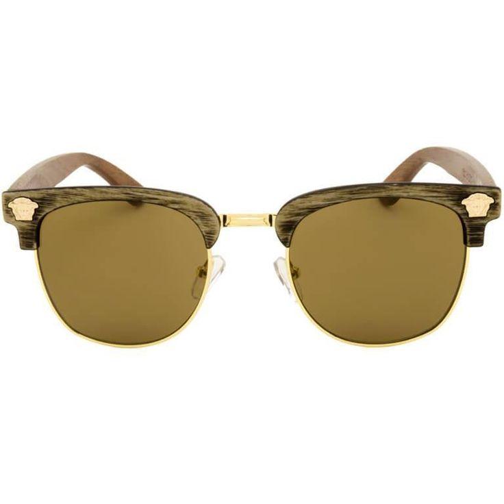 """Ξύλινα Γυαλιά Ηλίου Bamboo Clubmaster """"Costa""""-e-chap"""