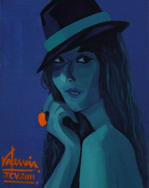 Portrait on Blue 2011 Oil on Canvas por RalosStudio en Etsy