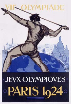 Jeux Olympiques/Paris 1924 Olympics - Lmtd. Ed. Hand Numbered                      Fine Art Giclee Print