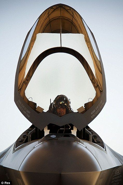 Lt Col Benjamin Bishop completes a pre-flight check before take off at Eglin Air Force Base in Florida