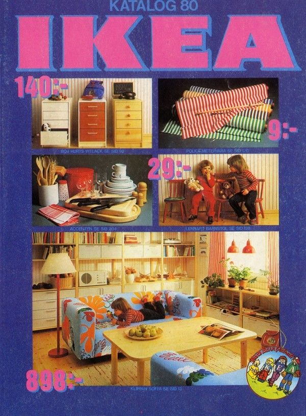 IKEA Catalog Covers from 1951-2014 (cover from 1980) #GraphicDesign # Interiors