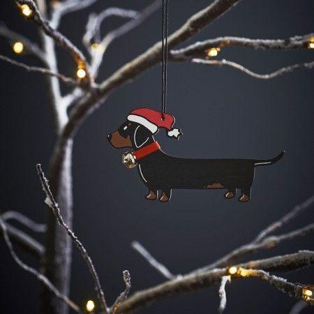 Sweet William Dachshund Christmas Decoration - £6.99