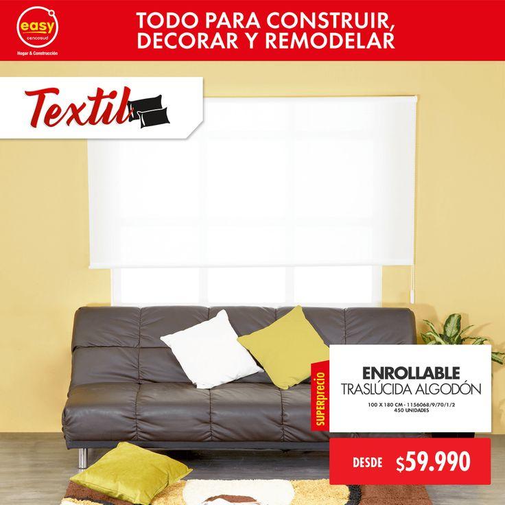 Enrollable Traslúcida Algodón • 100 x 180 cm - 1156068/