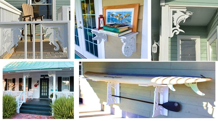 Coastal corner brackets, for mailboxes and more