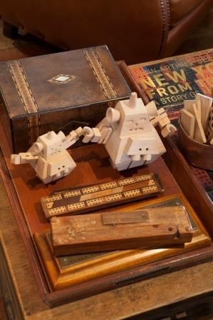 Robots and cribbage boards make a story in the lounge. (Kevin loves cribbage!) Donovans Restaurant