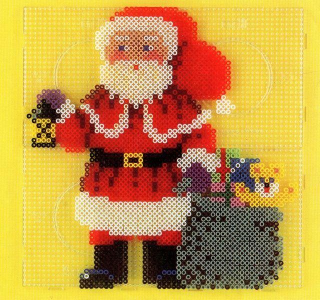 Christmas Santa hama perler pattern