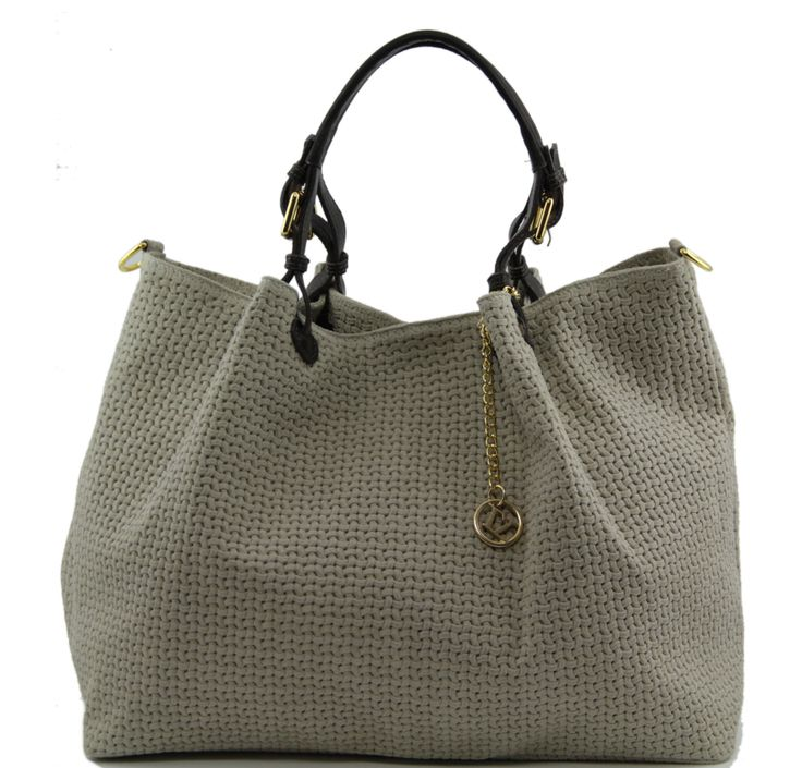 Tuscany Leather Woven Leather Bag in Taupe