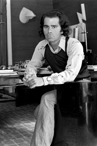 Karl Lagerfeld 1970s. German fashion designer, artist and photographer based in Paris.