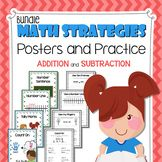 Math Strategies Posters and Practice Sheets (Addition and