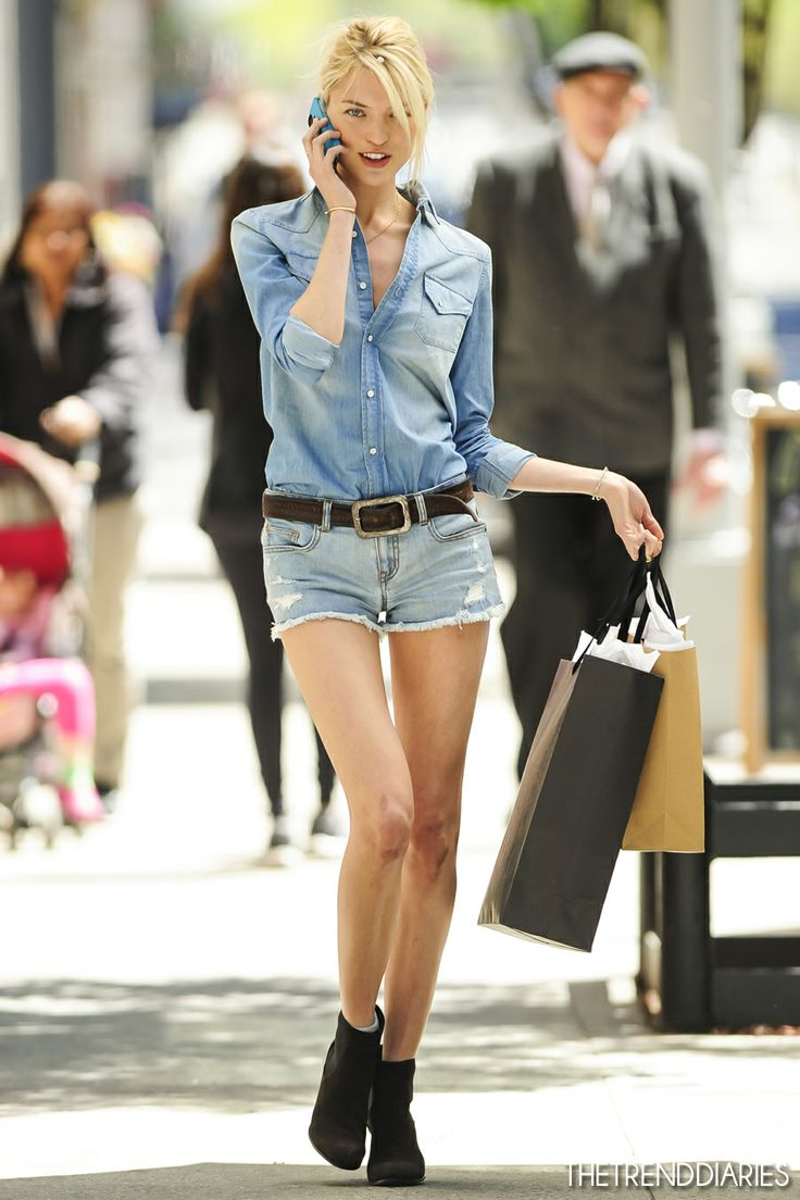 Martha Hunt at a photoshoot for the Victoria Secret's Catalogue in New York City, New York - May 1, 2013