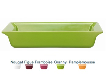 """Small rectangular baking dish. 11"""" x 8"""".  Herma's price: $39.99. To order call 905·885·9250. (Prices subject to change without notice)"""