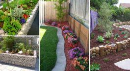 Fantasztikus kerti szegély ötletek.