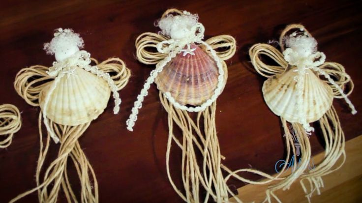 17 best images about angels on pinterest sea shells for Christmas tree ornaments made from seashells