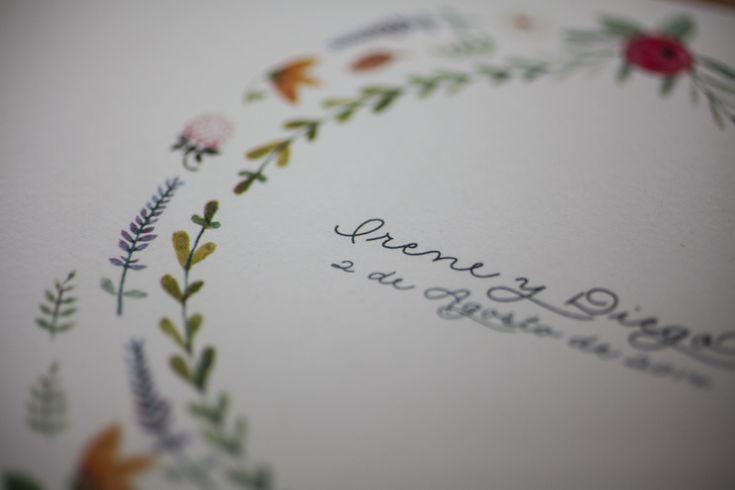 SrtaEdwina | Inviti di nozze Illustrated Irene & Diego