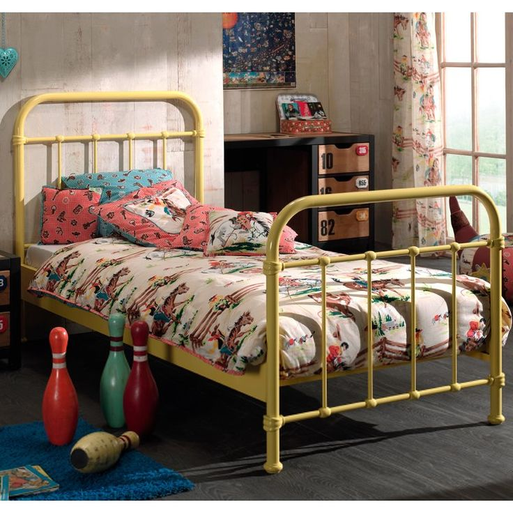 Harriet Bee Arrington European Single Bed Frame in 2019