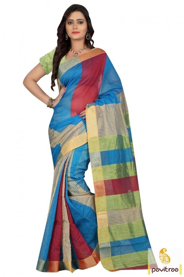 Walk with full attitude by wearing ethnic wear aqua blue red light weight printed pure cotton silk saree online at cheap cost. Viva n Diva latest casual formal sarees collection at pavitraa.in. #cottonsaree, #designersaree, #printedsaree, #casualwearsaree, #sareewithblouse, #cheappricesaree, #discountoffer, #pavitraafashion, #silksaree, #onlinesareeshopping More: http://www.pavitraa.in/catalogs/silk-cotton-sarees-online-shopping-india/ Any Query: Call Us:+91-7698234040