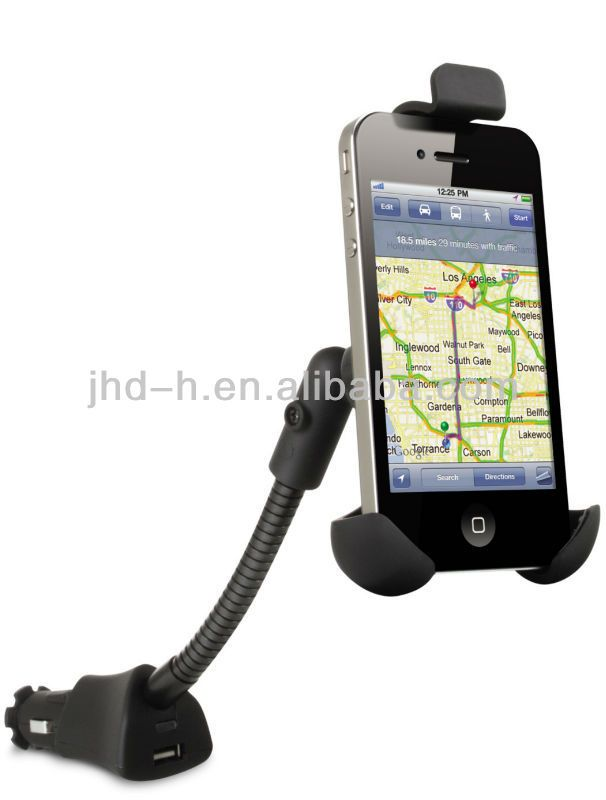 For Smartphone Car Holder with Charger, Popular Car holder with charger car in mobile phones holder 5V 1.5A hand cell phone