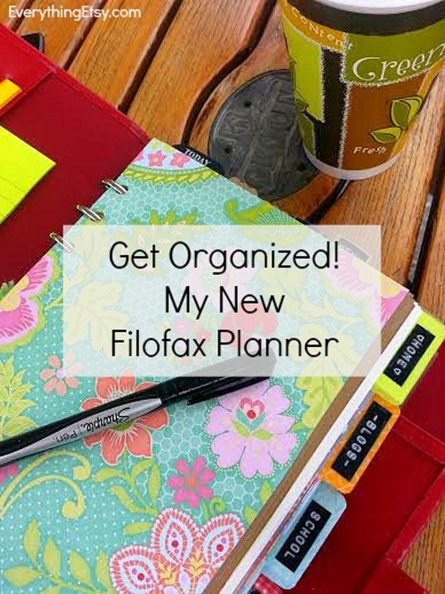 Get Organized–My New Filofax Planner #organize #filofax